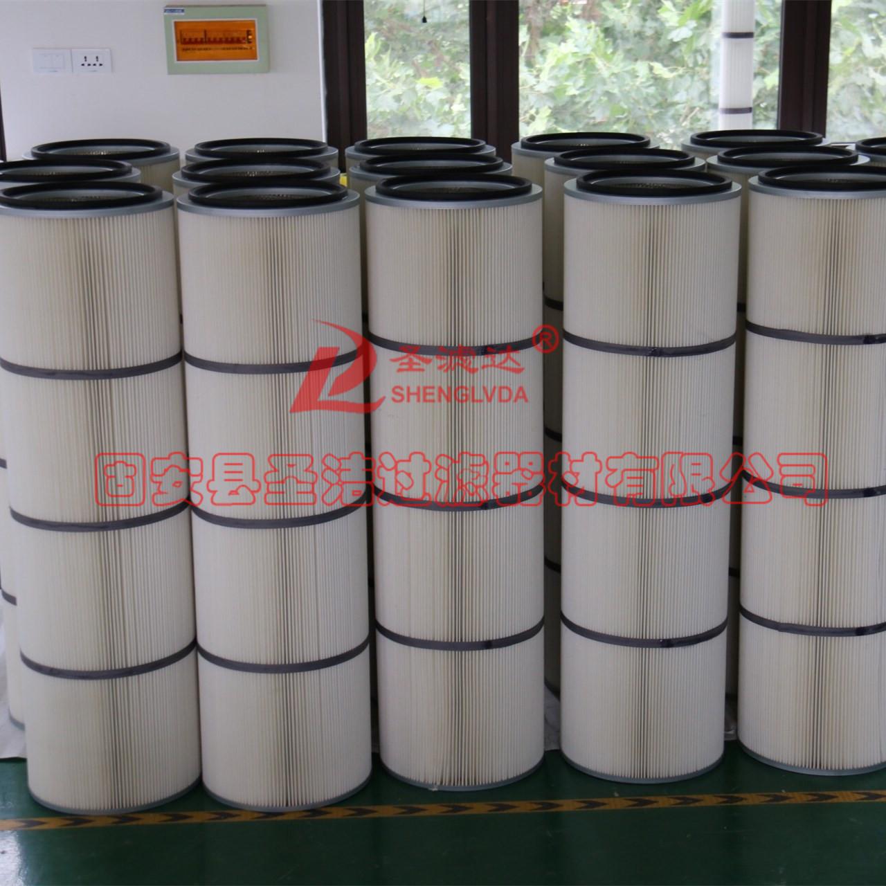 厂家批发定制聚酯纤维除尘滤筒滤芯销售