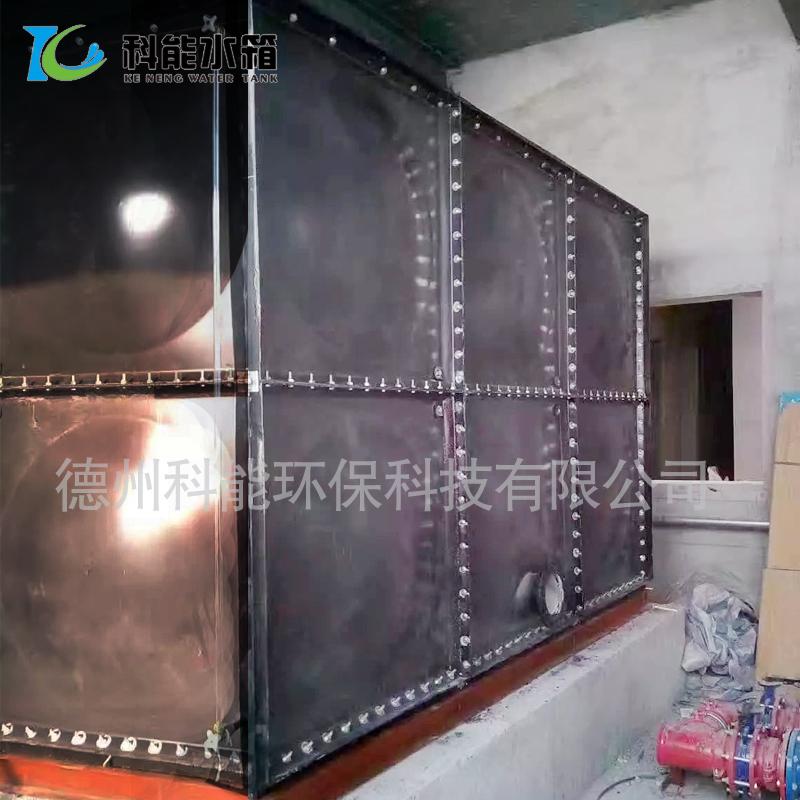 搪瓷钢板水箱厂家直销 消防水箱 定做搪瓷油箱