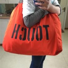 字母韩版单肩尼龙休闲包大容量帆布包女包购物袋广场舞旅游包