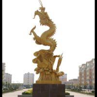龙形不锈钢雕塑
