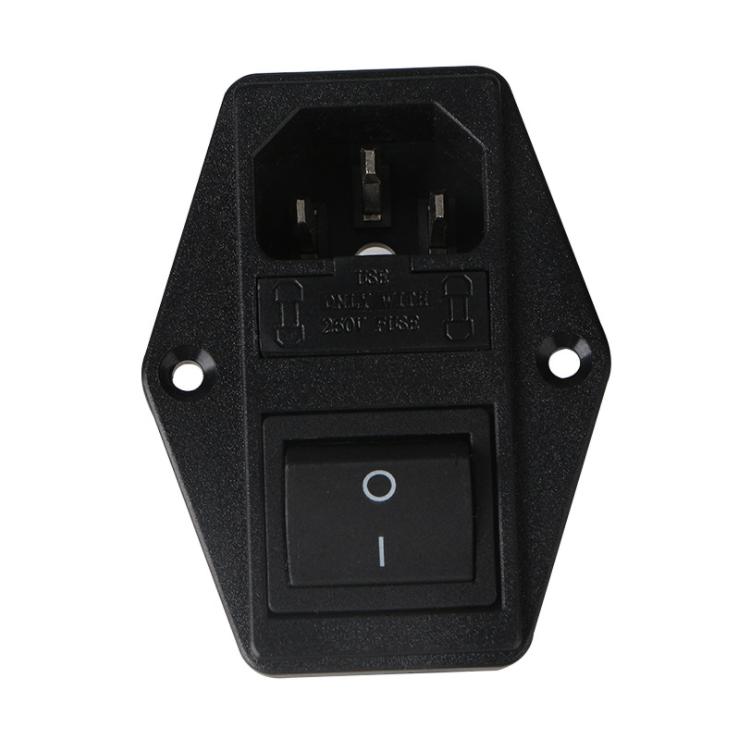 供应AC电源插座双保险三合一插 AC-02F电源插座双保险