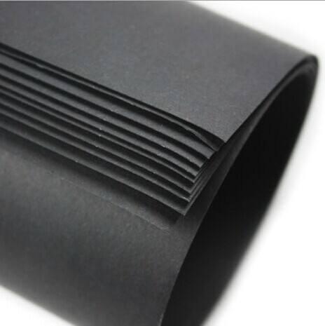 黑卡纸 450克国产黑书纸 东莞黑色书咭