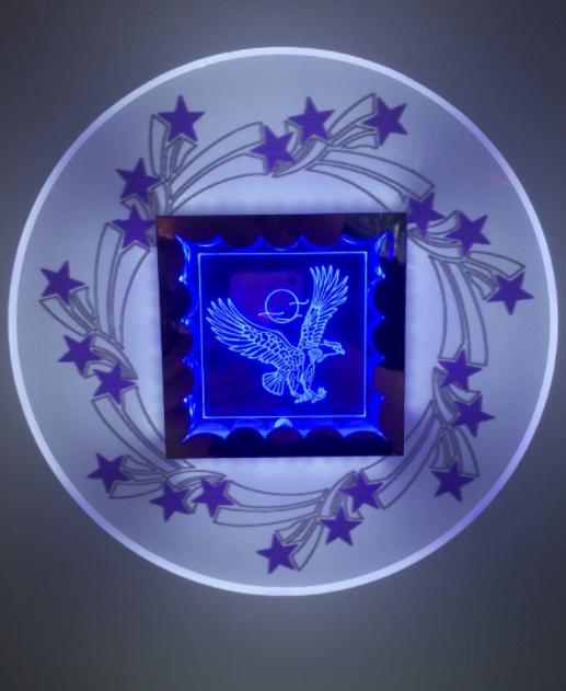 供应3D创意壁灯  直销3D创意壁灯 火爆款壁灯 亚克力小夜灯 3D创意壁灯厂家