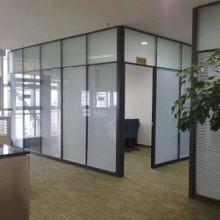 玻璃隔断墙办公室高隔断铝合金百叶窗成品双层钢化玻璃间屏风批发
