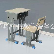 长春课桌椅 书桌环保型课桌椅只选哈中信生产
