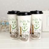 一次性咖啡杯定制咖啡杯广告印刷一次性咖啡杯带盖