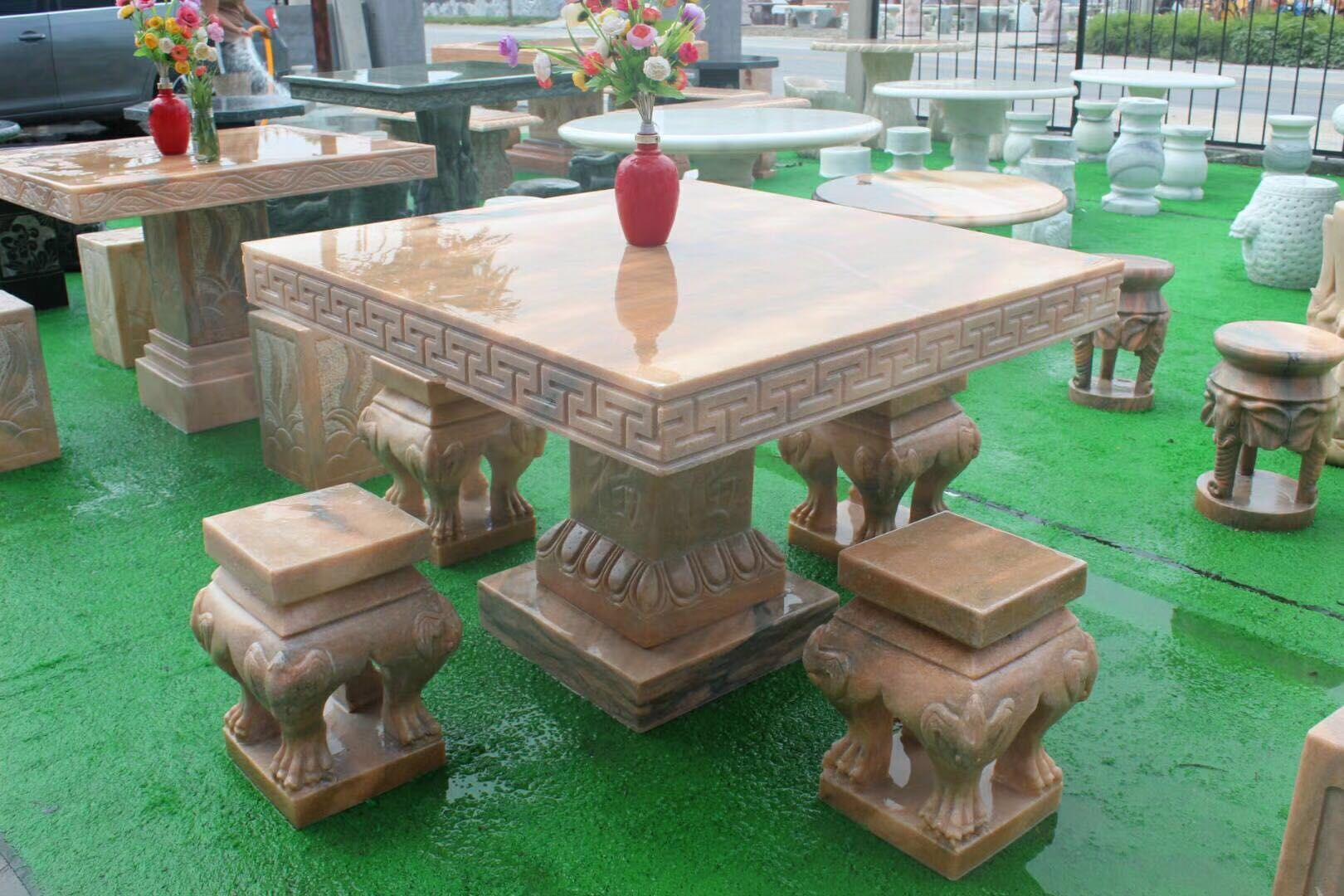 石桌石桌子石桌子圆桌户外庭院仿古石桌子