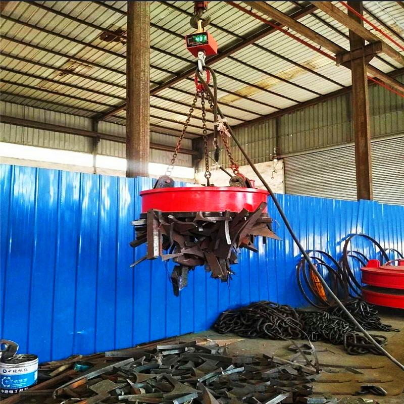 废钢废铁行车圆形起重电磁吸盘 起重电磁吸盘 龙门吊吸盘 挖机吸盘规格齐全