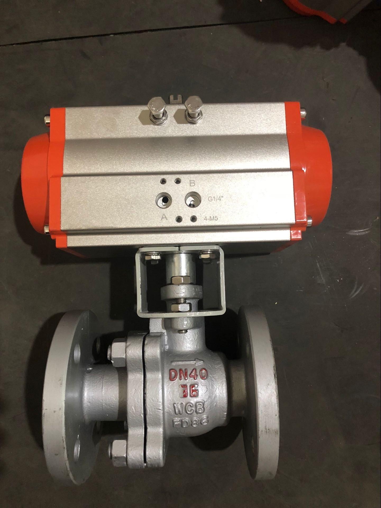 Q641F-16C 气动球阀  铸钢气动法兰球阀    Q641F-16C球阀