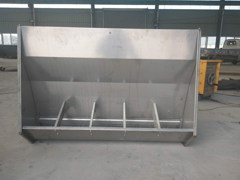 不锈钢双面料槽保育双面料槽食槽仔猪料槽小猪采食槽喂料器