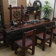 老船木茶桌椅组合简约现代家用实木图片