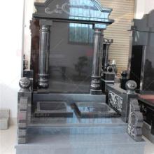 中式墓碑石雕雕刻厂 出售山西黑陵园套墓 精细雕刻 样式多样批发