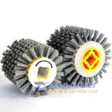 十字孔磨料丝抛光轮拉丝轮 碳化硅滚刷 杜邦丝滚筒刷 抛光滚轮 平行轮刷 平抛轮 拉丝机拉丝轮 拉丝机磨轮 非标定制批发