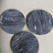 带你认识广西大理石制品深灰色圆盘底座图片