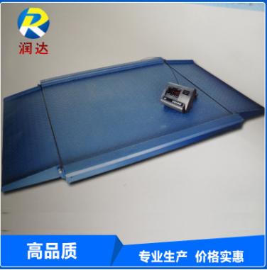 便携式电子地磅接线盒 高精度电子小地磅 带斜坡3吨地磅