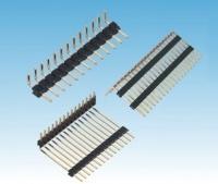 排针连接器 厂家直销 2.54排针 2*40P双排弯针 90度 间距2.54mm 中尚精密电子