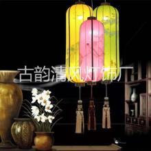 中山中式羊皮吊灯供货商|茶楼过道客房卧室灯厂家|中国风仿古羊皮中式吊灯厂家直销批发
