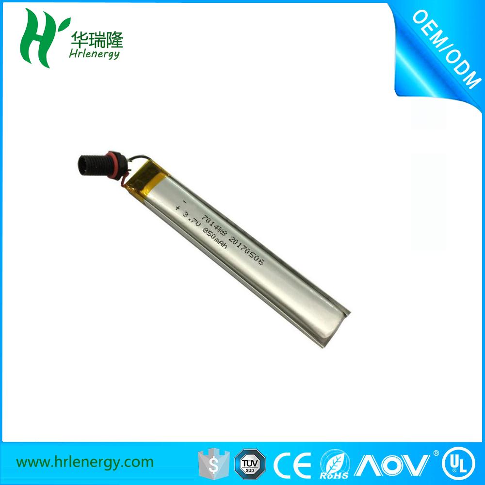 701488- 850mah聚合物锂电池