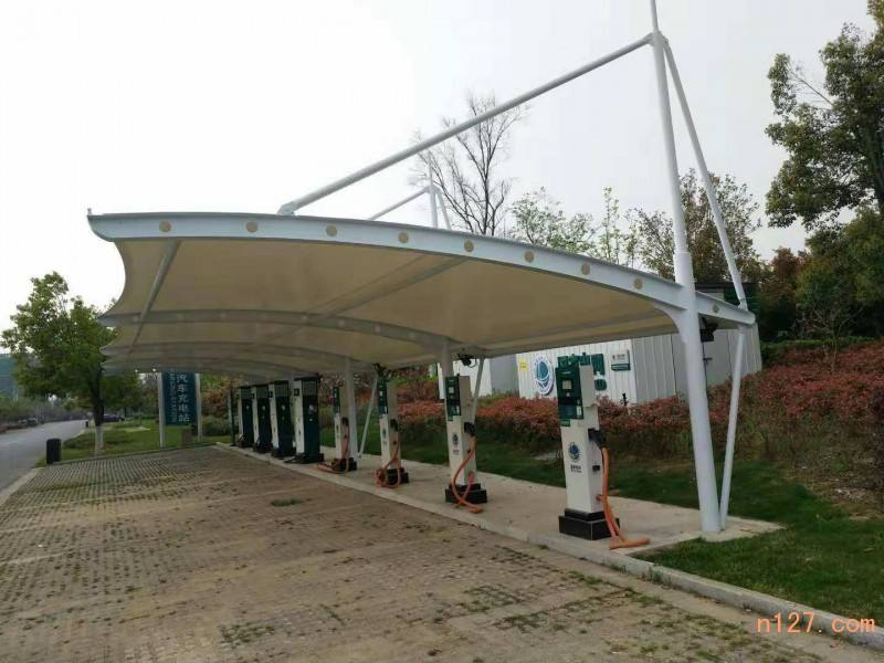 上海结构充电桩 膜结构停车棚工程 体育馆遮阳棚厂家