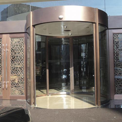 真铜酒店旋转门 真铜酒店门 酒店旋转门 定制真铜酒店旋转门