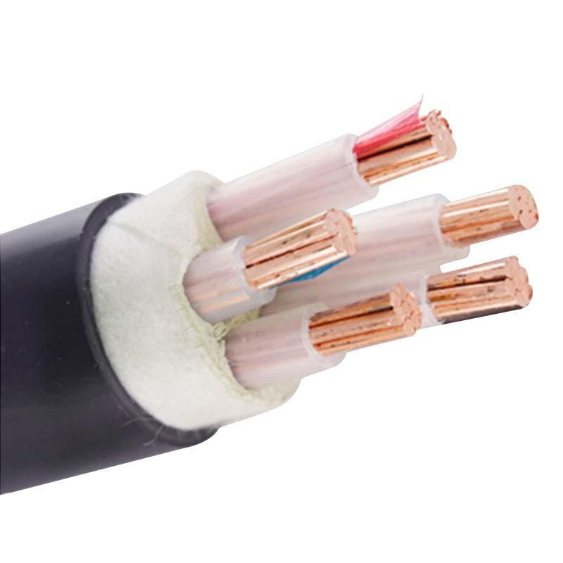 四相五线国标YJV 金环宇牌纯铜5芯电线电缆4+1芯2.5/4/6/10/16/25平方国标电力4相5线