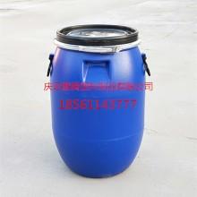淮北60升塑料桶60L抱箍法兰桶全新料供应批发