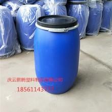 125L塑料桶125升铁箍法兰桶厂家批发