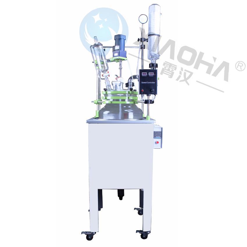 单层玻璃反应釜 上海霄汉单层玻璃反应釜XHF系列 定制单层玻璃反应釜 真空玻璃反应釜 5L单层玻璃反应釜