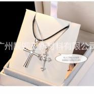 十字架银饰吊坠图片