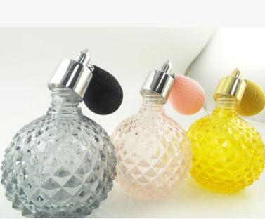 玻璃香水瓶喷雾香水空瓶 厂家香水空瓶 精致香水空瓶 香水瓶喷雾香水空瓶 气囊喷头