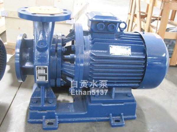 自贡水泵厂ISW卧式管道离心泵增压泵易安装加压泵