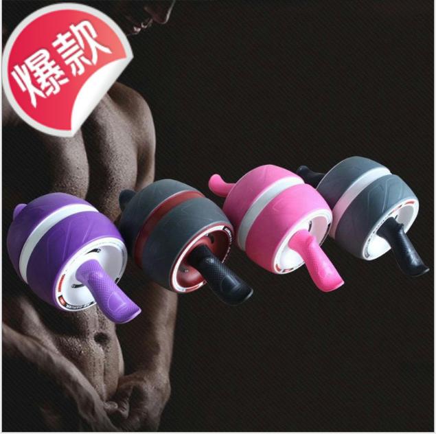 回弹健腹轮巨轮静音健身器材家用滚滑轮减肚子推轮厂家直销
