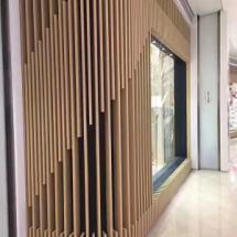 新型木纹铝方通官网,铝方通造型吊顶,铝方通幕墙独特的设计风格