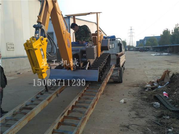 山东星工供应微型挖掘机 180度旋转作业