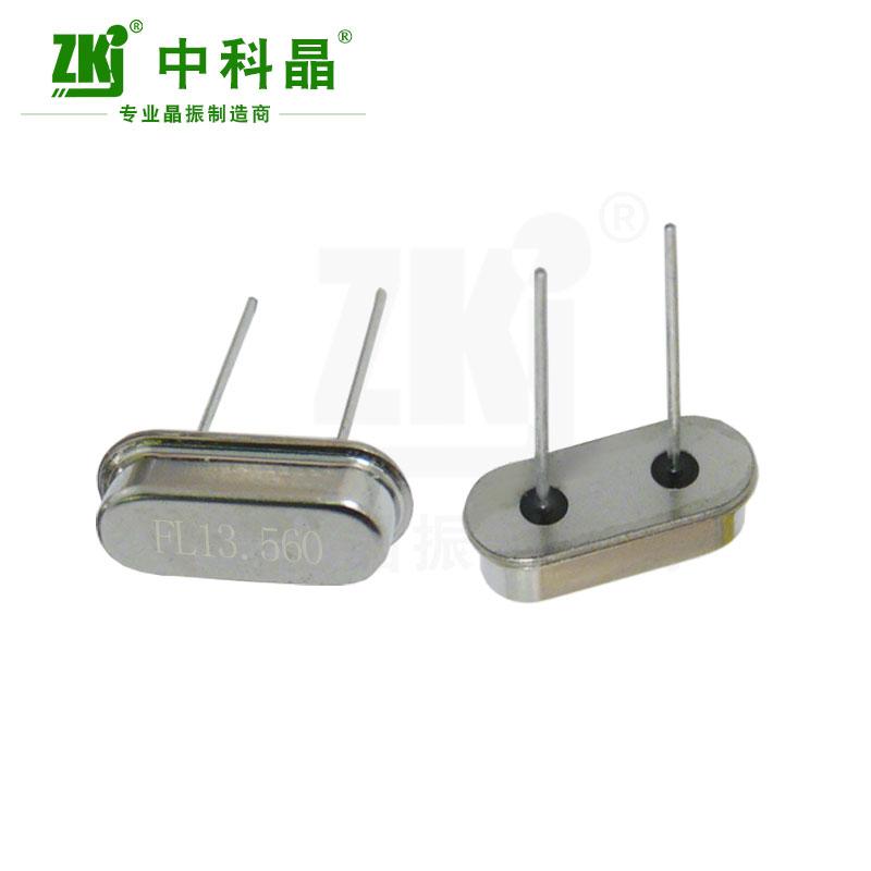 中科晶工厂供应插件晶振49S 13.560MHz谐振器
