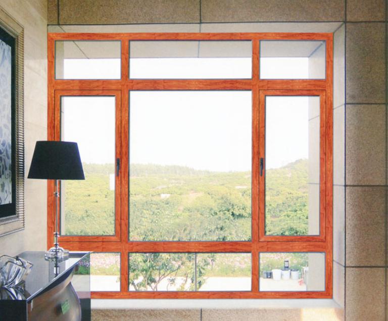 豪百顺门窗 50铝合金平开窗价格 50系列铝合金平开窗 50平开窗图片