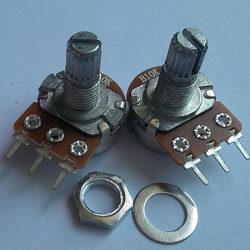厂家生产WH148金属柄3脚单联直脚电位器 电阻调光器  可调电阻