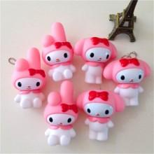 韩国创意美乐蒂钥匙扣公仔 可爱melody小兔情侣钥匙扣小礼品挂件批发