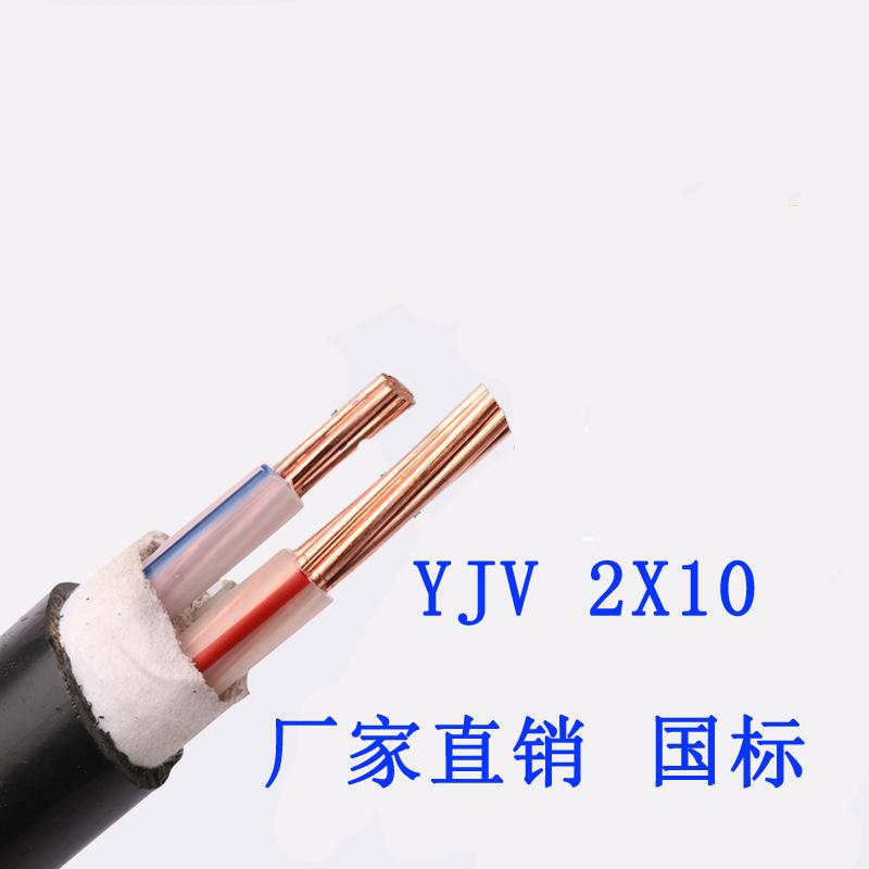 2芯国标电缆线YJV 国标金环宇电缆线YJV 2芯纯铜芯线6/10/16/25/35平方电源线户外电线