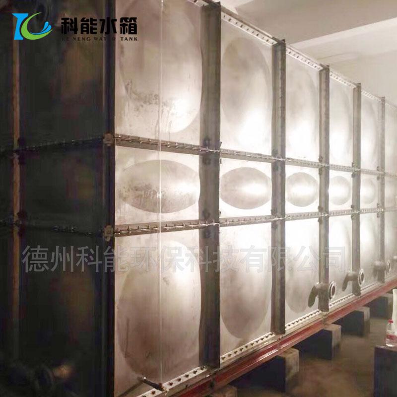 304不锈钢拼装水箱厂家 方形消防水箱 定做保温不锈钢水箱