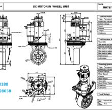飛機牽引車agv舵輪 特種agv行走方案 agv驅動輪/舵機圖片