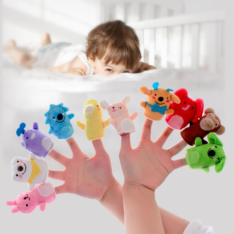 毛绒玩具指偶 安抚玩具小动物手偶指偶亲子布偶玩具益智毛绒讲故事十二生肖指偶 毛绒玩具指偶