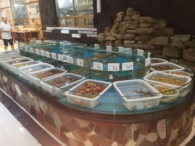 杭州水族供应玻璃海鲜龙虾池厂家