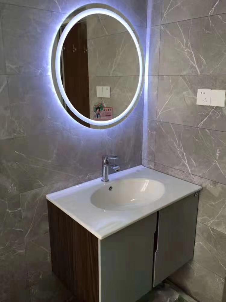 浴室led镜子浴室镜背光镜无框灯镜防雾卫生间镜子卫浴镜化妆镜带灯