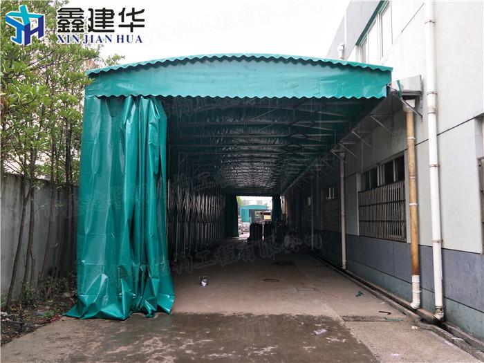 恒台县移动室外工厂推拉雨篷鑫距华哪家专业