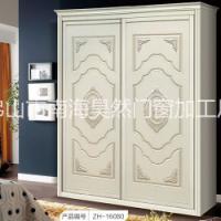 佛山厂家直销实木生态板简欧雕刻衣柜门