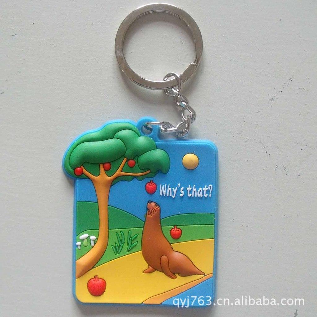 钥匙扣广告软胶钥匙扣定制软胶卡通钥匙扣小礼品扣PVC卡通钥匙扣