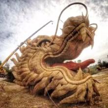 稻草工艺品定做_稻草人工艺品欣赏和定做_稻草景观雕塑制作厂家_仿真绿雕价格