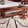 实木软皮床尾凳图片