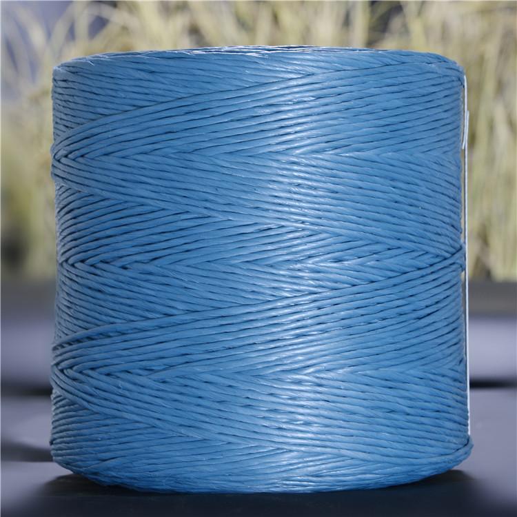 太和县供应水稻秸秆打包绳小方捆二道绳蓝绳PP材质配套上海世达尔打捆机专用